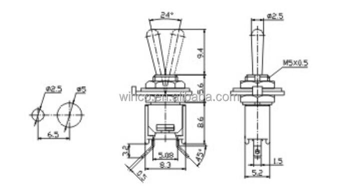 smts-101-2a5 sub-miniature toggle switch
