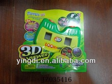 Plastic 3D Sterescopic Disc / Slide / Film Toy Viewer kids play plastic 3D picture viewer