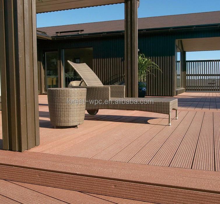 140 x 25 mm frstech bois ext rieur plastique composite bois de plancher en plastique patio. Black Bedroom Furniture Sets. Home Design Ideas