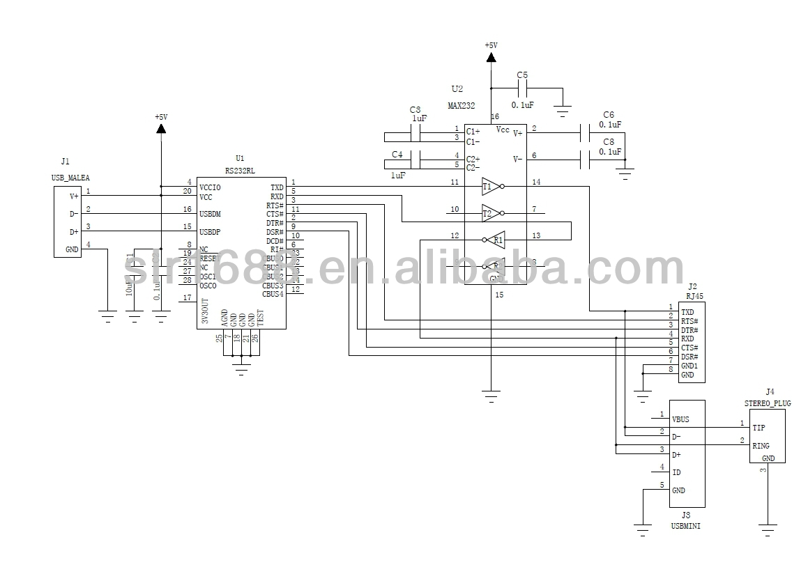 Usb To Rs232 Serial Communication 35mm Jack Cable Buy Schematic