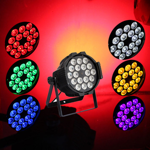 Pro dmx 6 in 1 rgbwa uv 6in1 18x18w wash 64 par can led par light