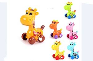 ZUINIUBI Small Clockwork toys 6pcs cute cartoon giraffe Baby learning to crawl toys child baby early education learning toys for boys girls 0-1 year old baby