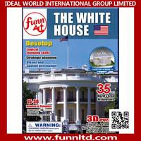 Kids Puzzle Games World Famous Building 3D Foam Puzzle - The White House 3D Puzzle