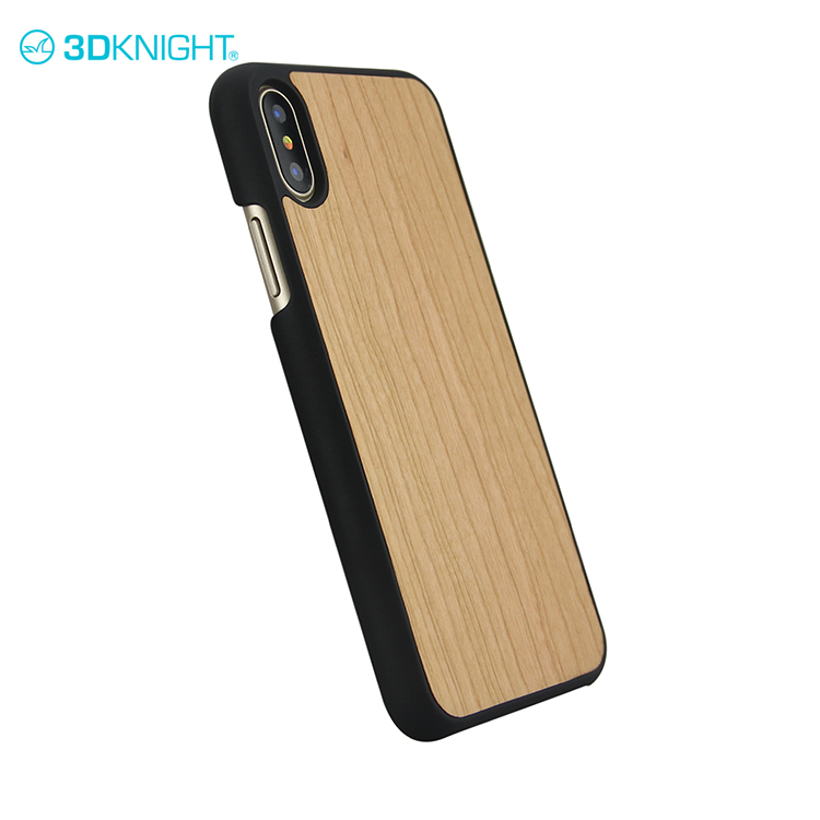 Natural cherry wood dongguan mobile phone cover, shell for iphone x wood cover
