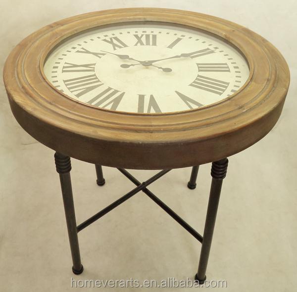 Runde Massivholz Couchtisch Mit Uhr Buy Couchtisch Mit Uhr Holz