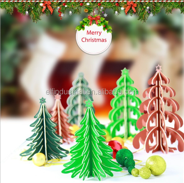 New idea 2018 christmas home decoration pieces handmade hanging ornament artificial paper christmas tree