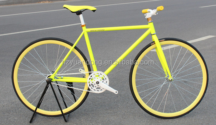 Large stock colorful 700C fixie gear mechanism bike