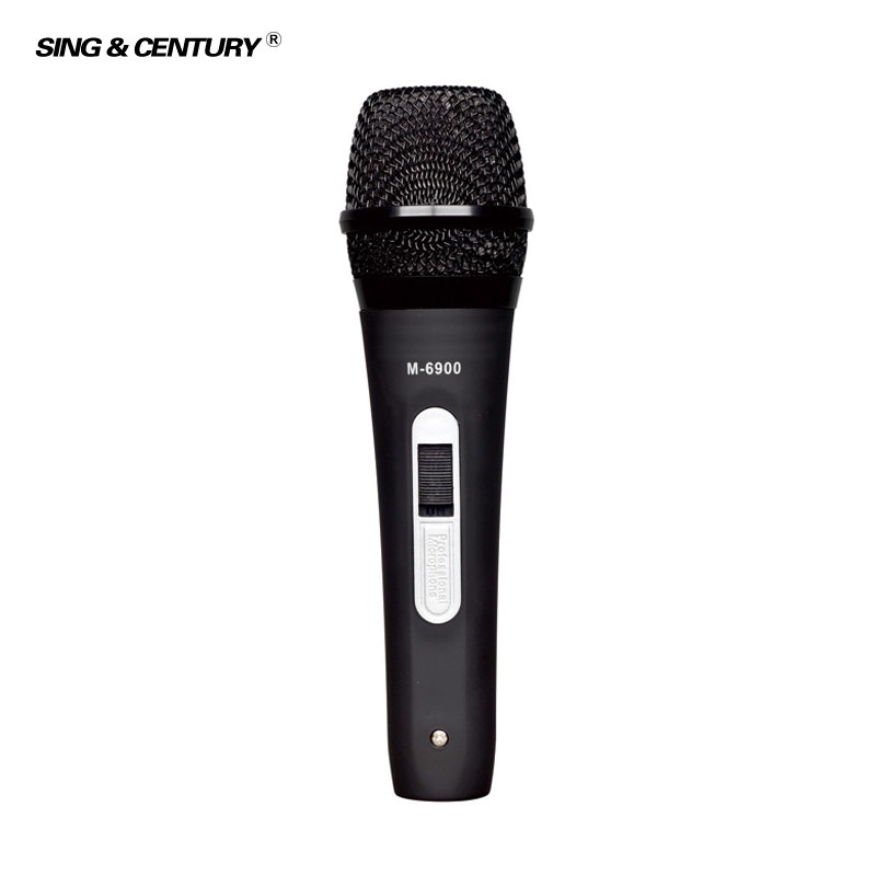 Low Price For Karaoke M-6900 Professional Sensitivity Plastic Mic Wired