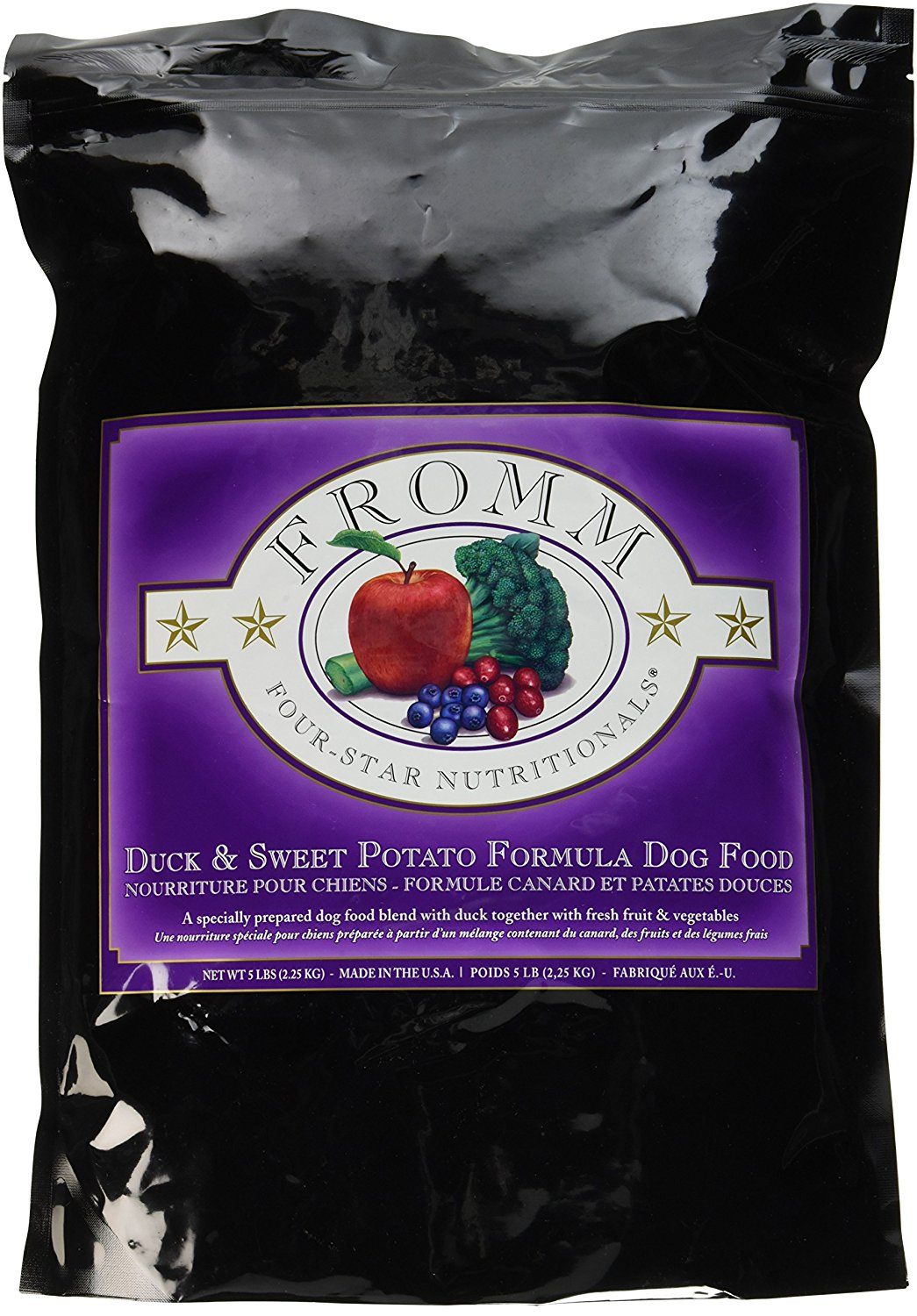 Fromm Four-Star Duck & Sweet Potato Dry Dog Food, 5-Pound Bag