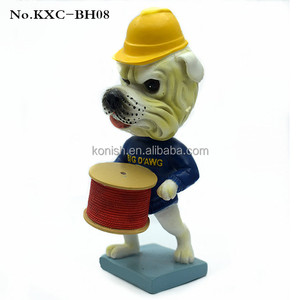 Decorative Customized Resin Dog Bobblehead for Table Decoration