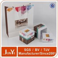 Full color monogram jewelry custom large gift box wedding favor gift box packaging