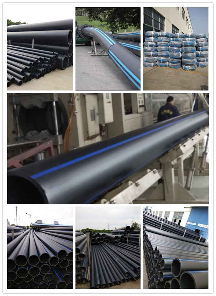 Jiangte brand high quality black plastic 20mm~1200mm HDPE pipe PE water pipe drain pipe