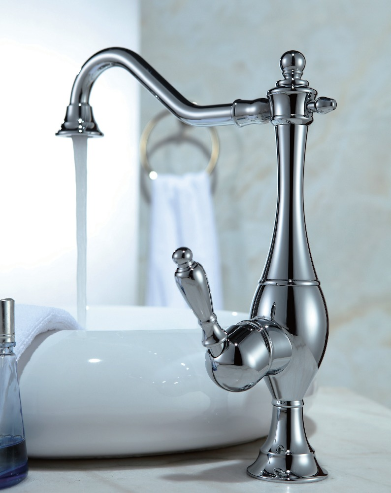 Contemporary brass chrome water faucet kitchen sink faucet