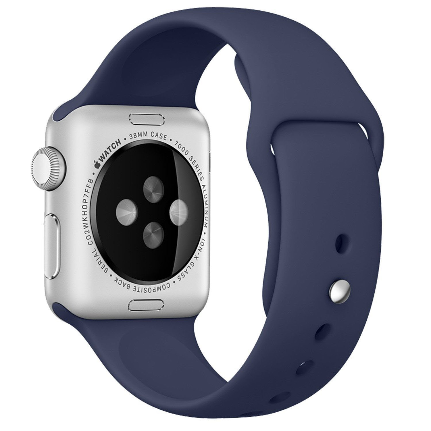 Apple Watch Band - Fashion Men / Women Soft Silicone Replacement Smart Watch Bands For Sport Version Apple iWatch Band 38mm-Midnight Blue