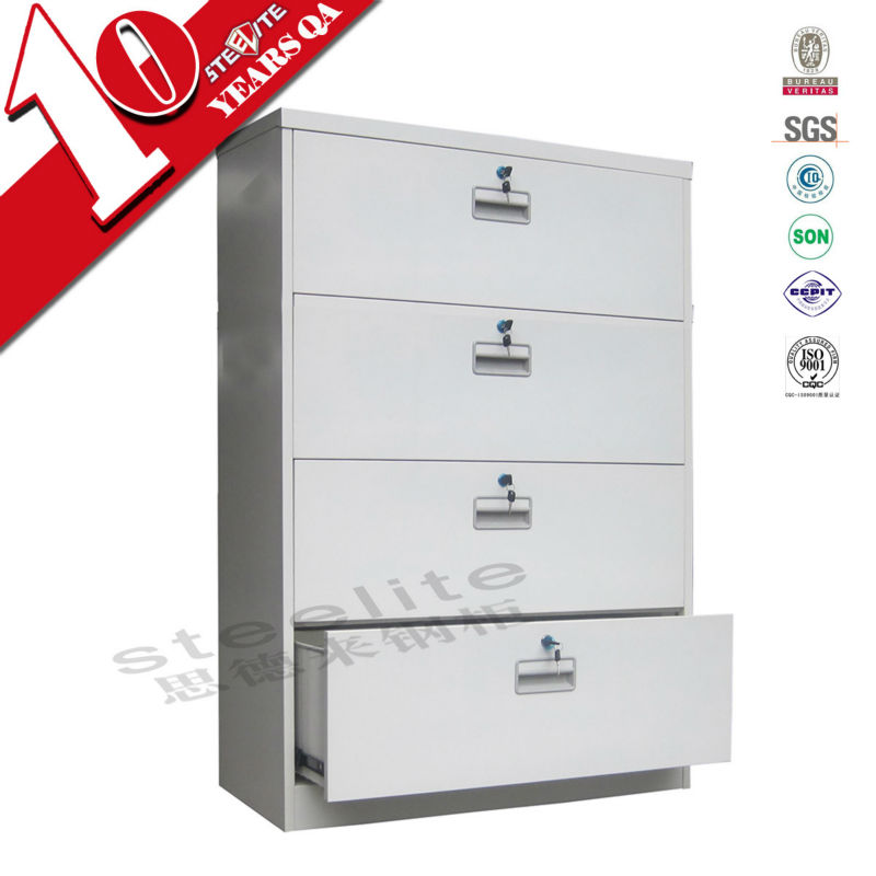lockable white wide metal 4 drawer file <strong>cabinet</strong> hot sale wide four drawer lateral steel filing <strong>cabinets</strong>
