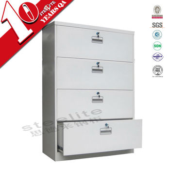 Lockable White Wide Metal 4 Drawer File Cabinet Hot Sale Wide Four Drawer  Lateral Steel Filing
