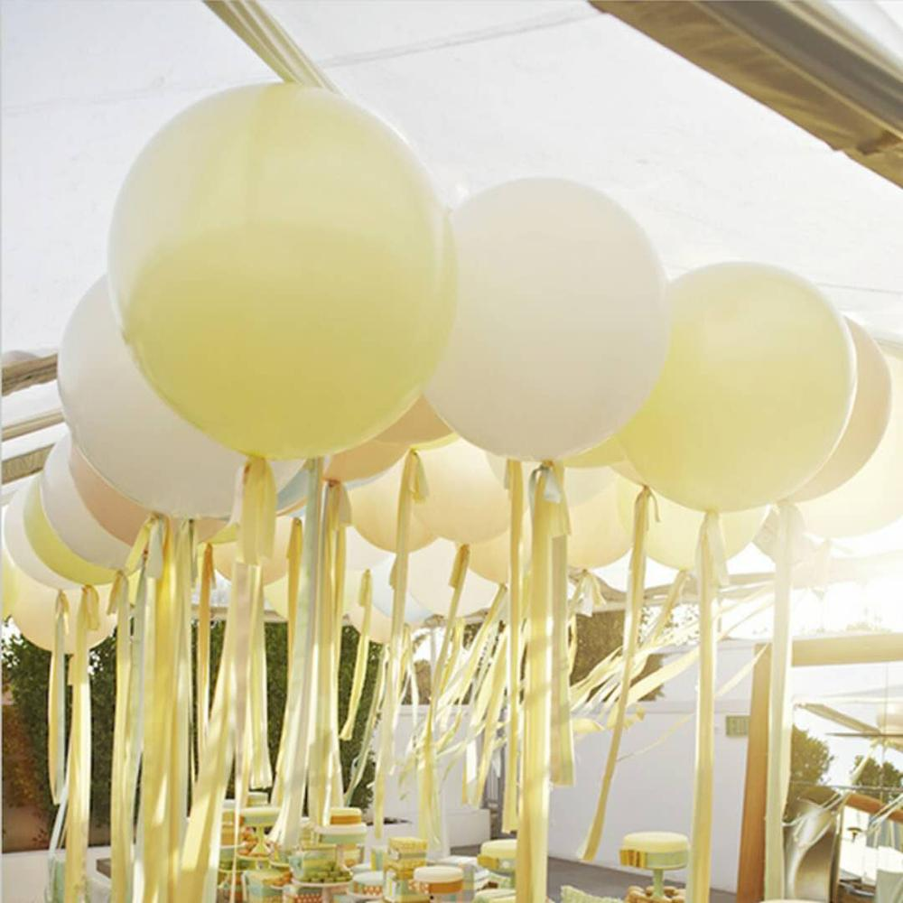 36 inch 25g Jumbo Large Round Latex Balloons Transparent Clear Giant Wedding Ballons Table Centerpiece Bridal Shower