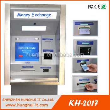 Self Service Bankingsystem Currency Free Standing Exchange Kiosk Money Machine