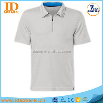 Custom dry fit polo shirt zipper collar polo shirt price for Custom dry fit polo shirts