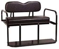 Club Car DS Golf Cart Rear Flip Flop Seat Kit - Color: BLACK