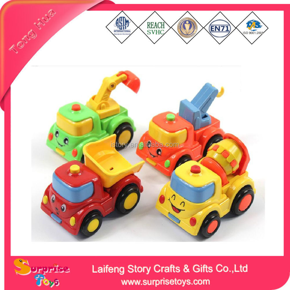 Cartoon Smile Face Pull Back Car Truck Toys For Cute Vehicles Baby Toy Cars