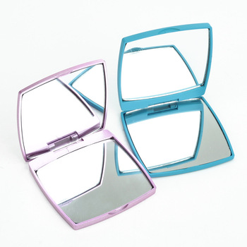 Square Double Side Candy Color Travel Easy Pocket Mirror
