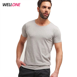 Breathable running gym quick dry fit 90% cotton 10% spandex custom printing logo bulk blank plain men sport t shirt