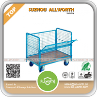 Heavy Duty Transport Logistic Cart with Wooden Board