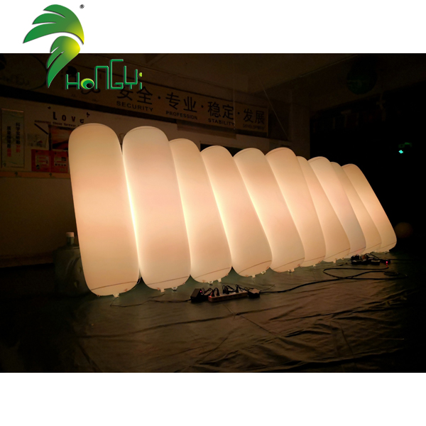 Air Sealed PVC Inflatable Tube Balloons With led Lighting For Decoration