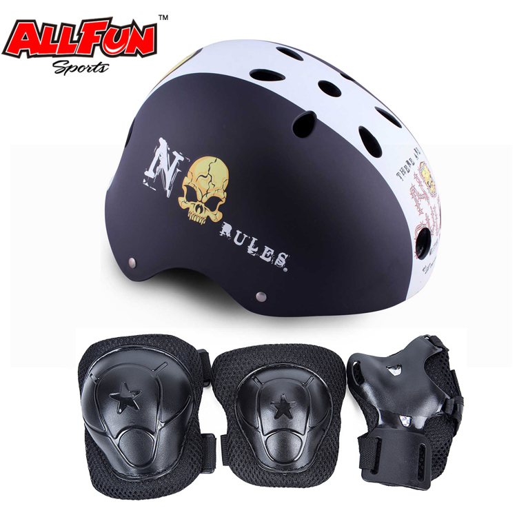 Classic commuter bike skate helmet 6pcs safety protect gear elbow knee wrist pads