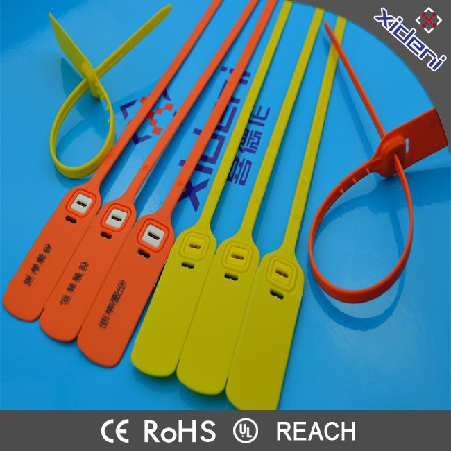 CE UL Rosh REACH Plastic Mark Cable Tie Seal Tag for Logistic Container