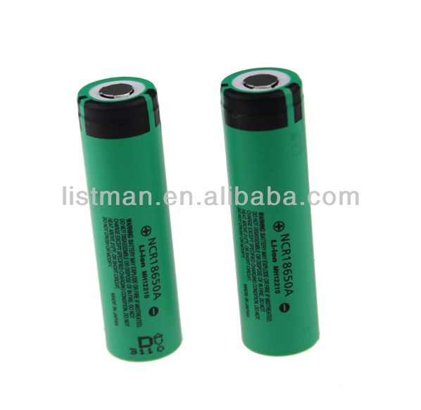 NCR18650A 3100mAh 3.7V Rechargeable Li-ion Battery (2pcs)
