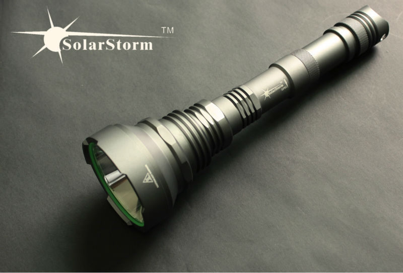 High intensity tactical flashlight LED police flashlight Solarstorm SP02