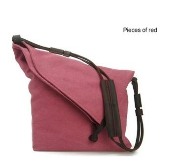 Trendy Fashion Cute Rose Canvas Leather Sling Shoulder Bag And Handbag For Women