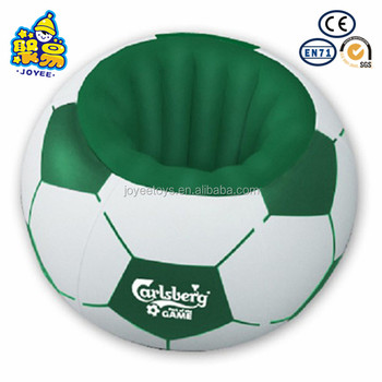 Fast Production Inflatble Football Ice Bucket Soccer Shape Inflatable Beer  Cooler