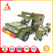 Military rescue vehicles for the police china children toys new building blocks