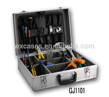 Aluminum Tool Case,Tool Box With Fold-down tool pallet&AdjustableCompartments Inside