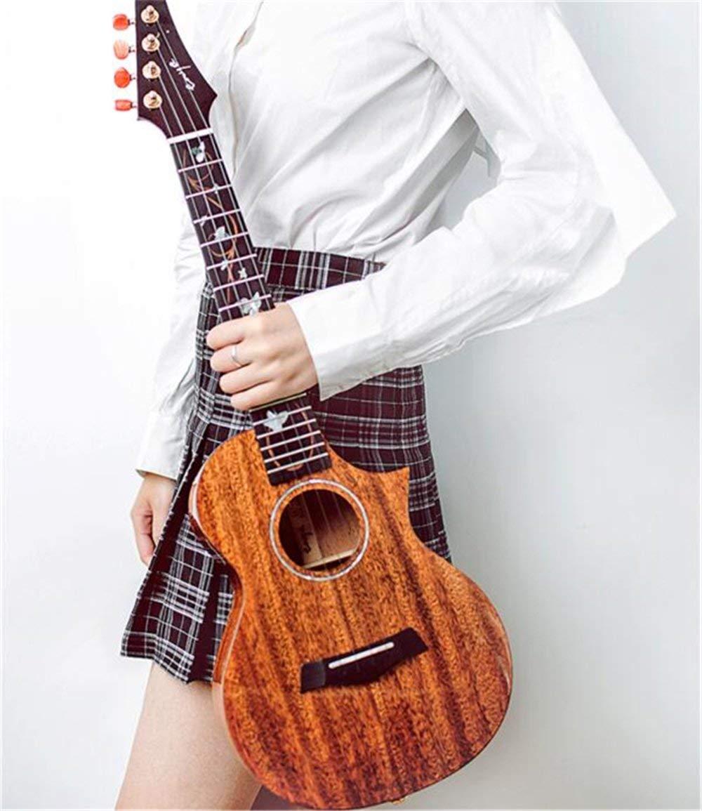"Enya M6 Cutaway Ukulele Tenor 3A Solid Mahogany Body with Enya cotton bag Four String Guitar Musical instruments (26"")"