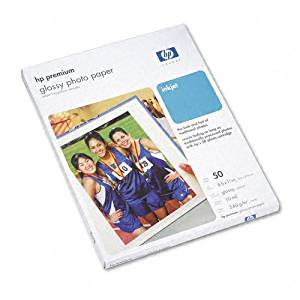 Hewlett Packard Premium Photo Paper, Glossy, Letter, 50 Sheets