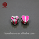Wholesale Pink Heart 925 Silver Beads Gift box Designed CZ Bow European Charm For DIY Jewelry
