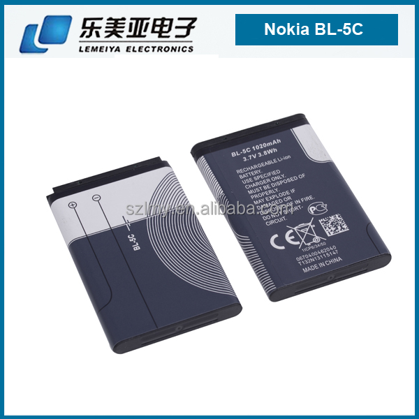 oem new arrival big quantitiy stock china phones used spice battery for nokia bl 5c hot sale low price good quality for nokia