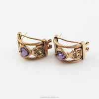 Wholesales Luxury India Crystal Gold Jewelry for Women 2015 Crystal Crown Stud Earrings