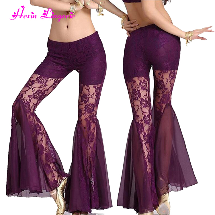 Big Discount purple lace bella dance sexy ladies custom yoga pants