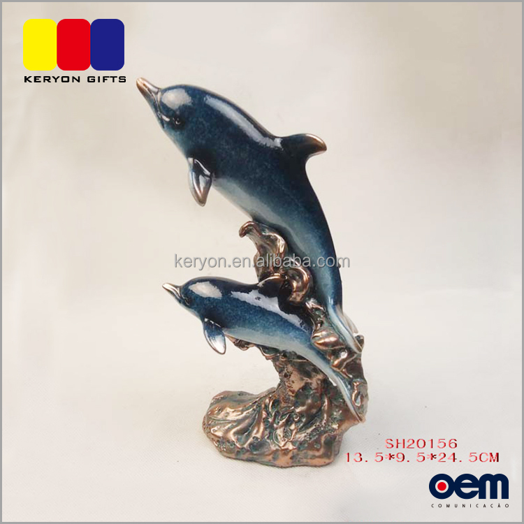 Modern Resin Dolphin Animal Figurines Home Accessories Decoration
