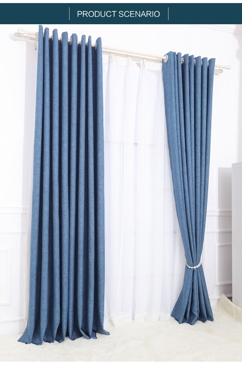 100% Polyester Blue Wholesale Valance Curtains,church Curtains Decoration