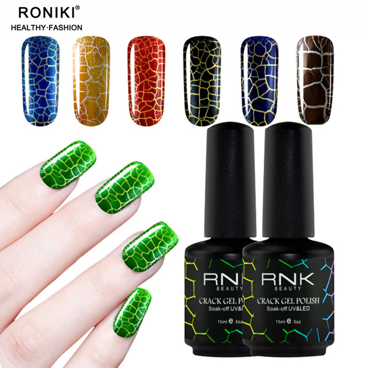 Rnk High Quality Oem Crack Effect Nail Gel 15ml Gel Polish - Buy ...