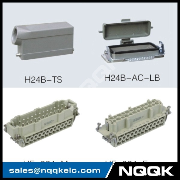 5 24 pin Screw spring crimp terminal Inserts surface mouned heavy duty sockets connector with 1 levers.jpg