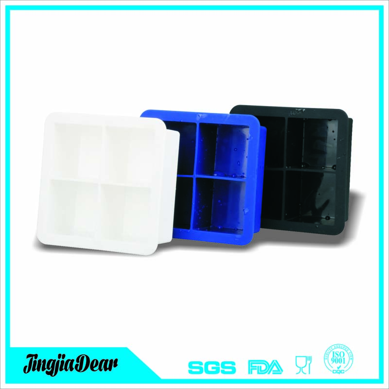 custom logo printing baby food tray ice cube trays, square shaped silicone ice cube tray