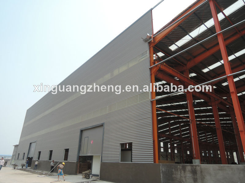 Professional Design Large Span Steel Temporary Warehouse Structures