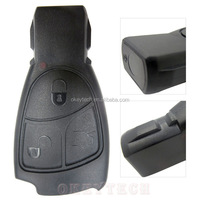 3 Buttons Replacement Remote Key Fob Case For Mercedes Benz C E ML Class Alarm Cover car key shell w203 w211 w204 With benz LOGO